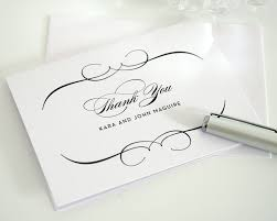 bridal thank you cards thank you letter  thank you cards invitations templates wedding