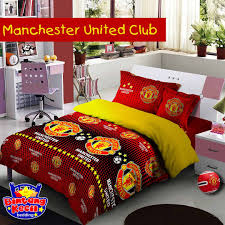 Manchester United Bedroom Sprei Star Motif Manchester United Produk Star Collection