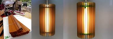 upcycled lighting ideas. Sydney Artist Upcycles Wooden Blinds Into Beautiful Pendant Lamps Upcycled Lighting Ideas
