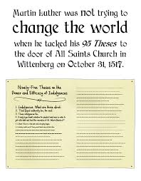 martin luther was not trying to change the world com
