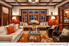 Living Room Ideas : Craftsman Style Living Room Contemporary Craftsman  Style Living Room With White And Brown Theme Color White Wall And Sofas  Sweet ...