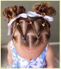 تسريحات شعر قصير للاطفال و الشعر الطويل بالخطوات للمدرسة و