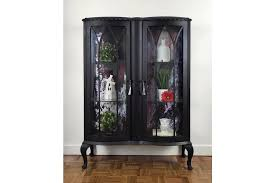 black glass display cabinet with acrylic paint pour glass display drinks cabinet photo 1