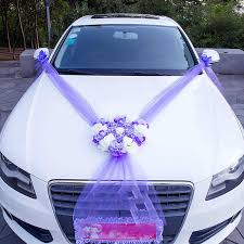 <b>Wedding Car Flower</b> Decoration 5M Ribbon 10 Bows Door Handle ...