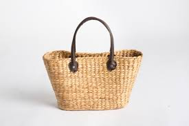 loading zoom zoom straw bag w leather handles
