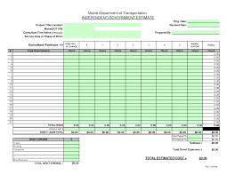 Construction Cost Estimate Formamples Building Estimation