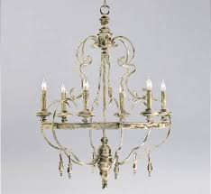 davinci 6 light large wood and iron chandelier