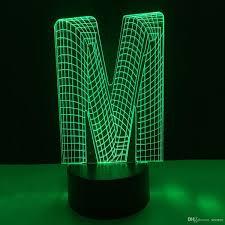 2019 M Letters 3d Illusion Led Lamp Letters Decoration Light Dc 5v