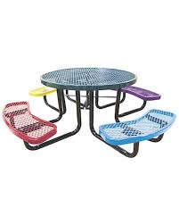 46in child size picnic table round expanded metal