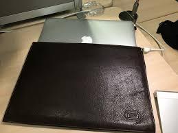 macbook air leather sleeve