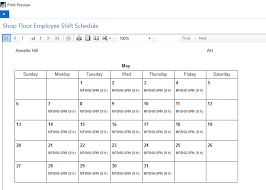Employee Shift Shift Scheduling With Shop Floor Insight
