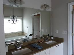 Frameless Bathroom Mirror Wall Lights Above Frameless Wall Mirror Bathroom Mirrors With