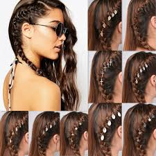 10 ชนแพคผมถกแหวนโลหะวงกลม Loop สำหรบทรงผม Diy Hairpins ผม Hoop ผหญงสาวผมจดแตงทรงผมอปกรณเสรม