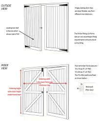 timber side hinged garage doors