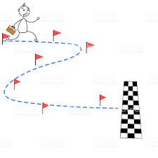 B Ton De Dessin Anim Homme Course Vers La Ligne Darriv E