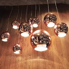 tom dixon copper shade pendant light mirror ball glass pendant lamp