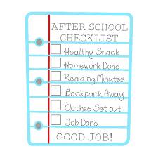 School Checklist After School Checklist For Kids Free Printable