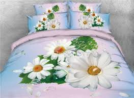 68 onlwe 3d white daisy with bubble printed 4 piece bedding sets duvet covers