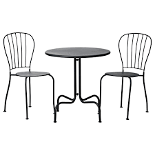 black furniture ikea. ikea lck table2 chairs outdoor the drain hole in seat lets water black furniture ikea l
