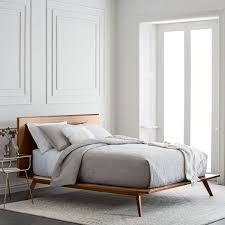 bedding for platform beds. Interesting For MidCentury Platform Bed U2013 Walnut Throughout Bedding For Beds E