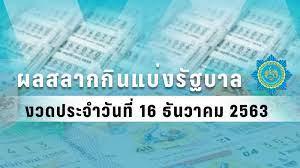 ตรวจหวย - ผลสลากกินแบ่งรัฐบาล งวดวันที่ 16 ธันวาคม 2563 : PPTVHD36
