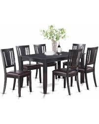 kitchen chairs for sale. DULE7-BLK 7 PC Kitchenroom Set-Dining Table And 6 Kitchen Chairs (Rubberwood For Sale