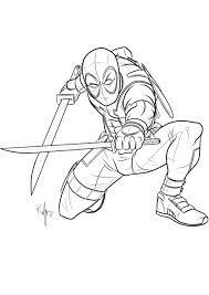 Deadpool Coloring Pages Printable 5553 Deadpool Coloring Pages
