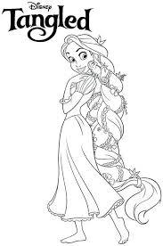 Rapunzel Kleurplaat Coloring Books And Colors Rapunzel Kleurplaaten