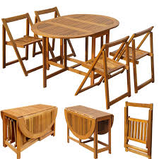 5 pcs wooden outdoor dining set