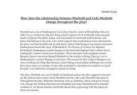 how does the relationship between macbeth and lady macbeth change  document image preview