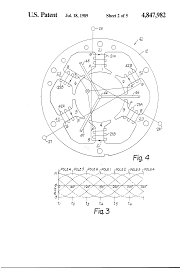 patent us4847982 method of winding a three phase one third patent drawing