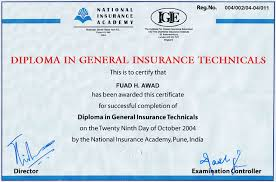 al ahlia general insurance brokers llc diploma in insurance