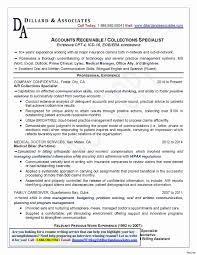 Accounts Receivable Specialist Resumes Sample Resume For Accounts Receivable Elegant Accounts Receivable
