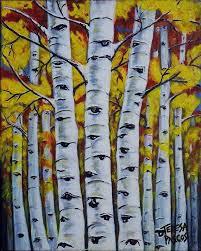 birch tree acrylic painting elegant autumn birch trees painting by teresa pascos