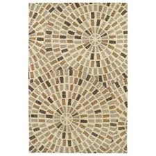 art tiles brown 10 ft x 13 ft area rug