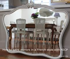 painting mirrors in chalk paint made easy