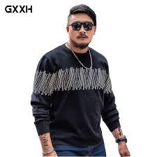 tide brand <b>Large size Men's Sweater Men's</b> Black Thick <b>Sweater</b> ...