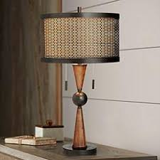 brown table lamps. Hunter Contemporary Table Lamp By Franklin Iron Works Brown Lamps