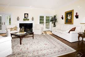 Living Room Rugs On Luxurious Living Room With Fireplace Oriental Rug On Wood Floor