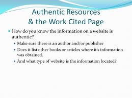 How To Make Work Cited Page Authentic Resources The Works Cited Page Ppt Video