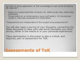theory of knowledge for the ib subject areas ppt video online in order to show application of tok knowledge to real world situations ib requires