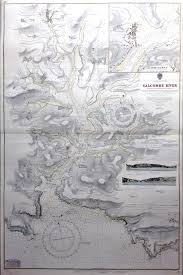 Old Nautical Charts For Sale Vintage Admiralty Chart Salcombe Harbour 1863 1953