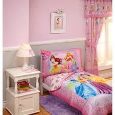 astounding little girl bedding sets your house inspiration disney princess timeless elegance 4piece toddler bedding