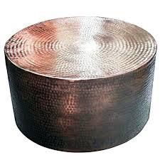 metal drum coffee table hammered coffee table hammered drum coffee table 1 hammered metal coffee table