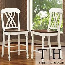 mackenzie white counter height chair set of 2 accent chairs dining room chairs
