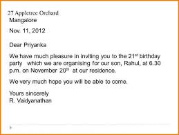 Informal Invitation Letter For Dinner Party Sample Letter Accepting