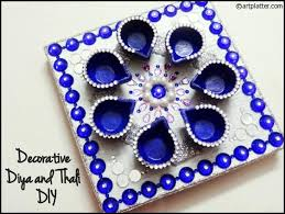 Diya Designs Decoration Decorative Diya and Thali Set Tutorial Art Platter 2