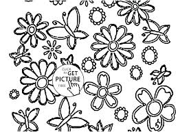 Free Coloring Sheets Spring Flowers Pages Of In A Vase Colouring