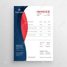 Modern Invoice Modern Professional Invoice Template Design Royalty Free Cliparts