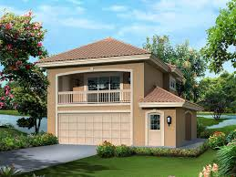 Fresno Bay Apartment Garage Plan D    House Plans and MoreVacation House Plan Front of Home   D    House Plans and More